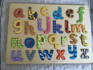Vintage Alphabet Wooden Tray Jigsaw Puzzle ~ 1980s