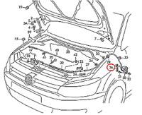 7N0919493 Original VW Zubehör Parkassistentsensorhalter
