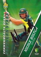 ✺Signed✺ 2015 2016 AUSTRALIAN Cricket Card NICOLE BOLTON Big Bash League