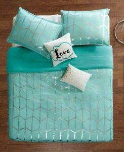 Intelligent Design Raina Aqua 4-Pc. Twin/Twin XL Duvet Cover Set retail $100