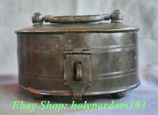 """6"""" Collection Old Chinese Copper Dynasty Palace Portable Box Pot Jar Crock"""
