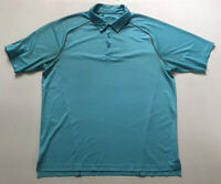 Under Armour Mens Sz XL Blue Heat Gear Loose Fit S/S Golf Polo Shirt
