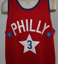 Philly #3 Steve & Barry's Men's Medium Red Basketball Jersey