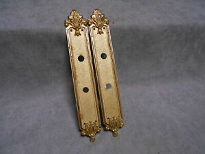 Pair of french Vintage BRONZE FINGER PUSH PLATES LOUIS XV St