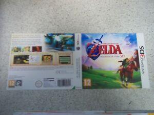 Zelda:Ocarina Of Time 3D Nintendo 3DS Replacement Box Art Sleeve/Inlay Repro.