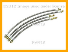 BMW 528i 540i M5 Brake Hose Set - Steel Braided with Clear Protective Jacket