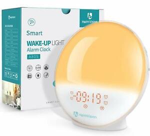 Heimvision Digital Sunrise Alarm Clock Wake up Light Sleep Aid Work With Alexa