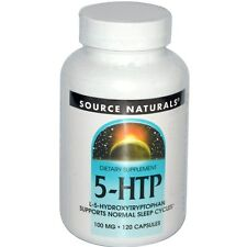 NEW SOURCE NATURALS 5-HTP INCREASE BRAIN SEROTONIN LEVELS POSITIVE EFFECTS 100mg