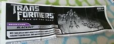 TRANSFORMERS DARK MOON CYBERVERSE BLACKOUT INSTRUCTION BOOKLET ONLY