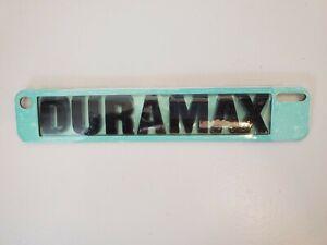 Black OEM GM DURAMAX Emblem Badges Silverado Sierra Door Hood New