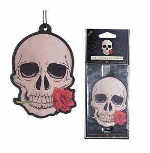 Gothic Skull  Rose Air Freshener - Car, Home or Locker - Novelty Halloween Gift