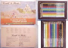 CONTE A PARIS 12 PASTEL PENCIL/crayon 1355 MADE IN FRANCE colored drawing artist
