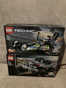 Brand New LEGO 42103 Dragster&42090  Getaway  Truck