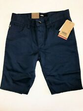 "Vans New AV Covina II 17"" Cutoff Shorts Boy's Size Youth 26/12 Dress Blues"