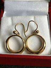 9ct GOLD CIRCULAR EARRINGS