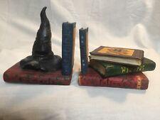 Enesco 2000, Harry Potter Sorting Hat Wizard Book, Hogwarts Bookends Pair 823260