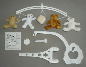 Soft Toy BEAR BABY COT MOBILE Child Bed Bedtime Nursery Toy
