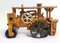 Antique HUBER Steam Roller HUBLEY Cast Iron Toy Road Construction Tractor 1930s