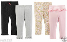 NEW NWT Lot of 4 Carter's Just On You Baby Girl Pull-On Legging Pants 3M 3 Month