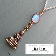 "Oval 18 - 19.99"" Moonstone Fine Necklaces & Pendants"