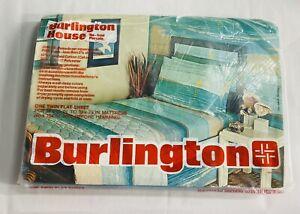 Vintage Burlington House No Iron Beach Scene Sunset Twin Flat NEW