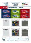 Diswasher & Tabs / Dishwasher Sticker Fit For lego Tiles /5004