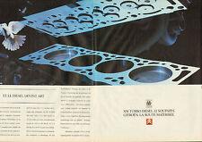 Publicité Advertising 1990  (double page)  CITROEN XM TURBO DIESEL 12 SOUPAPES