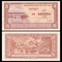 South Vietnam Viet Nam 5 Dong, ND(1955), P-13, A-UNC