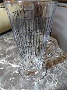 Large Tall Latte Glass