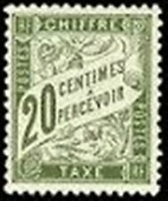 """FRANCE STAMP TIMBRE TAXE N° 31 """" TYPE DUVAL 20c OLIVE """" NEUF x TB"""