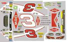 #3 Austin Dillon DOW Chevy 2014 Grey 1/64th HO Scale Waterslide Decals