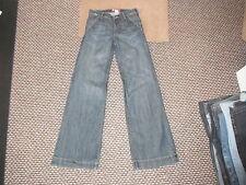 """Y & Fit amplia Jeans Cintura 26 """"de la pierna de 32"""" Faded Azul Oscuro Para Hombre Jeans"""