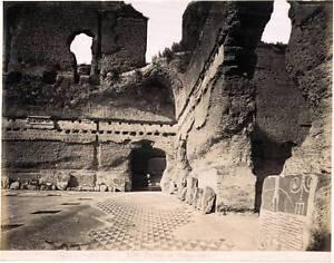 n. 170 Rome Terme di Caracalla Roma Italie Vintage photo albuminé vers 1870