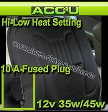 12v Car Van 4x4 Black Front Seat Cover Thermal Thermo Heated Cushion With Switch