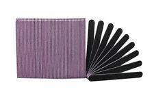 Premium Black 100/100 Grit (Lavender Center) Washable Beauty Salon Nail Files
