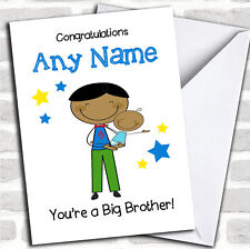 Asiatico fratello maggiore Congratulazioni NEW Baby Boy pari livello carta personalizzati