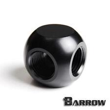 """Barrow G1/4"""" Matte Black T Adapter 3 Way - 075"""