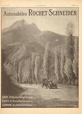 1913 Publicite Automobiles ROCHET-SCHNEIDER