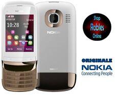 Nokia C2-03 Touch Golden Weiss (Ohne Simlock) 2,0MP DUAL-SIM CARD Slide GUT OVP