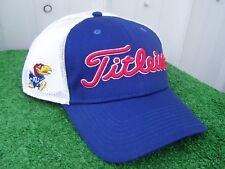 Titleist KU Kansas Jayhawks Mesh Back Adjustable Snap Back NCAA Golf Hat Cap NEW