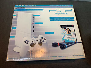 Playstation 2 PS2 Ceramic White Singstar Box Mic Microphone Game New - No System