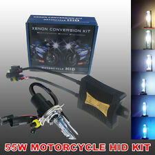 55W H4 HID Bi-Xenon Motorcycle Headlight Head Lamp Bulb Ballast Kit 6000K 8000K