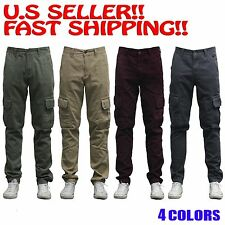 Military Cotton Cargo Pants Combat Solid Army Trousers SLIM LONG PANTS CHINO FIT