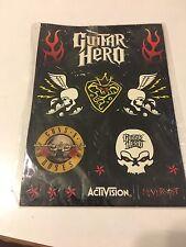 Guitar Hero Sticker Sheets Guns N Roses Activision + Bonus Les Paul Manual