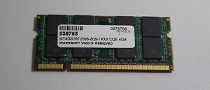 1 x 4gb DDR2 PC2-5300 667mhz laptop sodimm - Micron MT4GS16T2568 - 1mo warranty