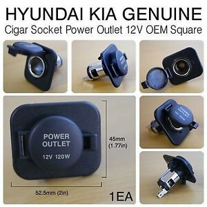 OEM Cigarette Cigar Lighter Socket Power Outlet 12V Square For HYUNDAI Car