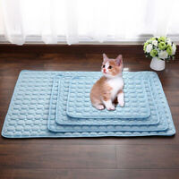 AU_ BL_ 5 Sizes Pet Cooling Gel Mat Dog Cat Bed Non-Toxic Cool Dog Summer Pad Do