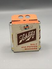 Vintage Schlitz Beer Can Salt and Pepper Shakers (1961) New Mint