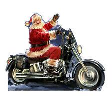 SANTA MOTORCYCLE Dona Gelsinger CARDBOARD CUTOUT Standup Standee Poster