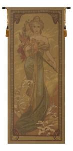 """Art Noveau Spring Vertical Woven Decor Wall Hanging Tapestry 64 x 28"""""""